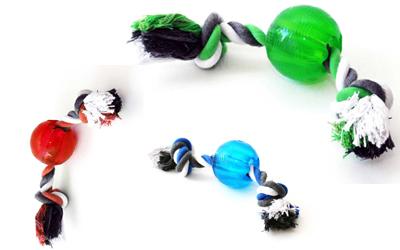 Spielball Bite-Me Strong mit Seil