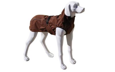 Choco-farbener Regenmantel für Hunde