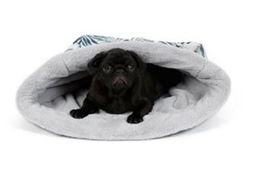 Hundeschlafsack mit Farn-Muster