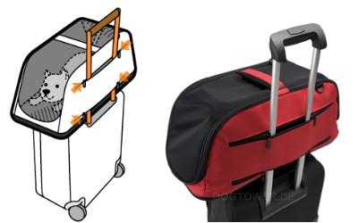 Hundetransporttasche, rot