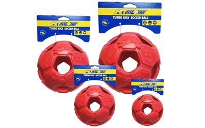 Turbo Kicker Soccer Ball in rot
