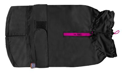 United Pets Easy Rain Regenmantel, schwarz/pink