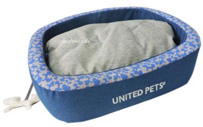 United Pets Hundebett SNOREFIE, oval blau/grau