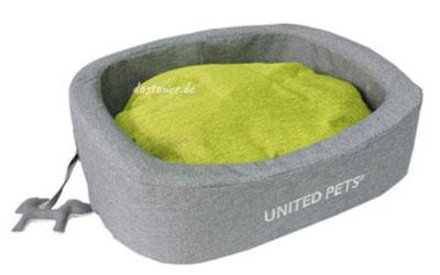 United Pets Hundebett SNOREFIE, oval grün/grau