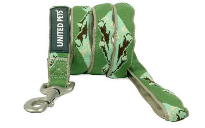 United Pets Hundeleine Papure, grün Tarnlook