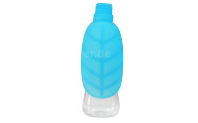 United Pets Leaf Silikonaufsatz für Trinkflasche, blau