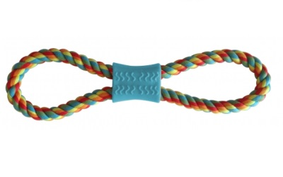 United Pets PetzPoint Bark-a-Boo Rope 'n Roll Hundespielzeug