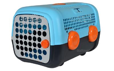 United Pets Transportbox A.U.T.O., hellblau/dunkelgrau