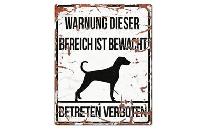 Warnschild, Dalmatiner Warnung dieser Bereich ist bewacht No 1