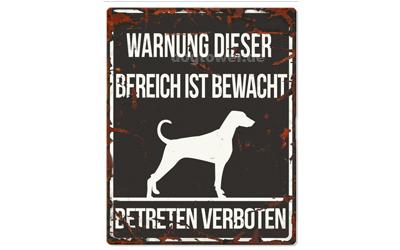 Warnschild, Dalmatiner Warnung dieser Bereich ist bewacht No 2