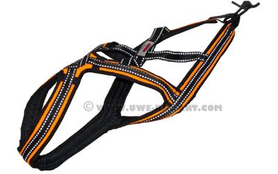 Weltmeisters Dogfood Dogsport X-Back CROSS Zuggeschirr, orange