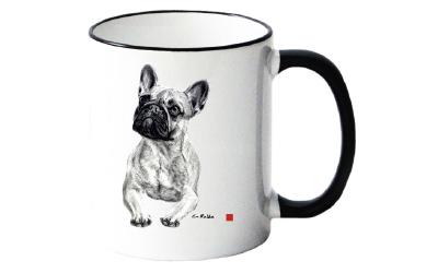 Tasse mit Französischer Bulldogge Motiv