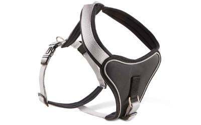 Wolters Cat & Dog Professional Comfort Hundegeschirr, silber/schwarz