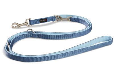Wolters Cat & Dog Professional Comfort Hundeleine, riverside blue/skyblue