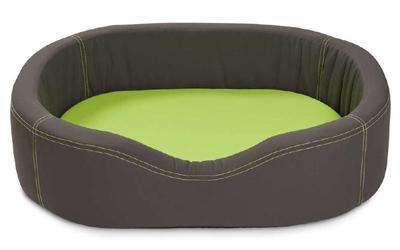 Wolters Cat & Dog VIP Lounge Nylon Hundebett, dunkelgrau/lime