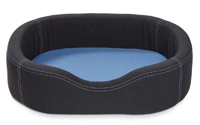 Wolters Cat & Dog VIP Lounge Nylon Hundebett, dunkelgrau/riverside blue