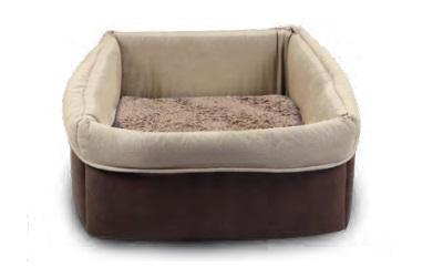 Wolters Eco-Well Hunde - und Katzenbett quadratisch braun/beige