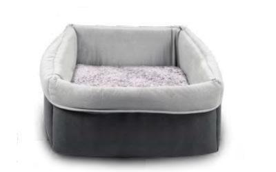 Wolters Eco-Well Hunde - und Katzenbett quadratisch grau/hellgrau