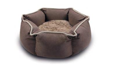 Wolters Eco-Well Hunde - und Katzenbett sechseckig braun/beige