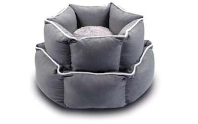 Wolters Eco-Well Hunde - und Katzenbett sechseckig grau/hellgrau