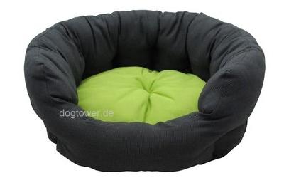 Hunde- Softbett Royal Dreams, grau-grün