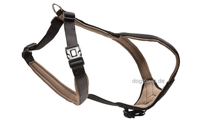 Professional Comfort Hundegeschirr schwarz/braun