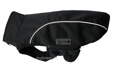 Softshell- Hundejacke Basic, schwarz/reflex