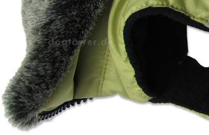 Mantel mit Kunstfellkragen und Reißverschluss
