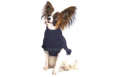Brombeer Hundepullover mit Zopfmuster