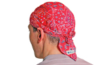 Aqua Coolkeeper Kopftuch Cooling Bandana / Scullycap, red western
