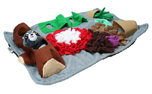 AFP Dig it Rectangle Fluffy mat with cute toy