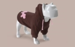 Bull Dogs Cotton Hoodie, Brown/Pink