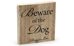 Designed by Lotte Holz Warnschild Beware of the dog
