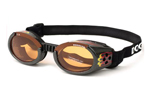 Doggles Hundebrille schwarz metallic racing flames