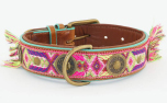 DWAM Dog with a mission Leder Hundehalsband Boho Chica