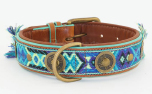 DWAM Dog with a mission Leder Hundehalsband Boho Juan