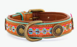 DWAM Dog with a mission Leder Hundehalsband Little City, orange