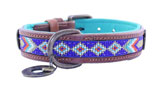 DWAM Dog with a mission Leder Hundehalsband Stella Blue
