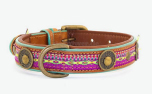 DWAM Dog with a mission Leder Hundehalsband Summer Grape