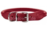 Hunter Leder Rundhalsband Round & Soft Elk nickel, chili