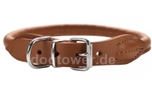 Hunter Leder Rundhalsband Round & Soft Elk nickel, cognac