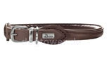 Hunter Leder Rundhalsband Round & Soft Elk nickel, mokka
