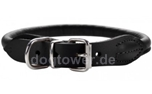 Hunter Leder Rundhalsband Round & Soft Elk nickel, schwarz