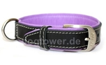 Wolters Cat and Dog Lederhalsband Terranova, schwarz/flieder