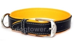 Wolters Cat and Dog Lederhalsband Terranova, schwarz/mango