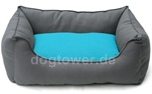 Wolters Hundebett Basic Dog Lounge, anthrazit/aqua