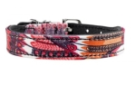 Hunter Hundehalsband Tropical, rot/schwarz