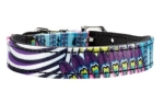 Hunter Hundehalsband Tropical, violett/schwarz