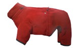 IQO Thermo-Fleece Hundeoverall, rot