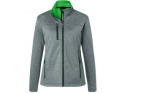 James & Nicholson Damen Melange Softshelljacke, dark-melange/green